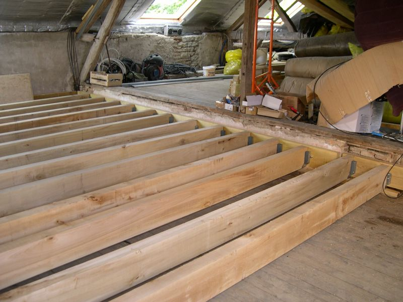 Renforcer plancher bois existant